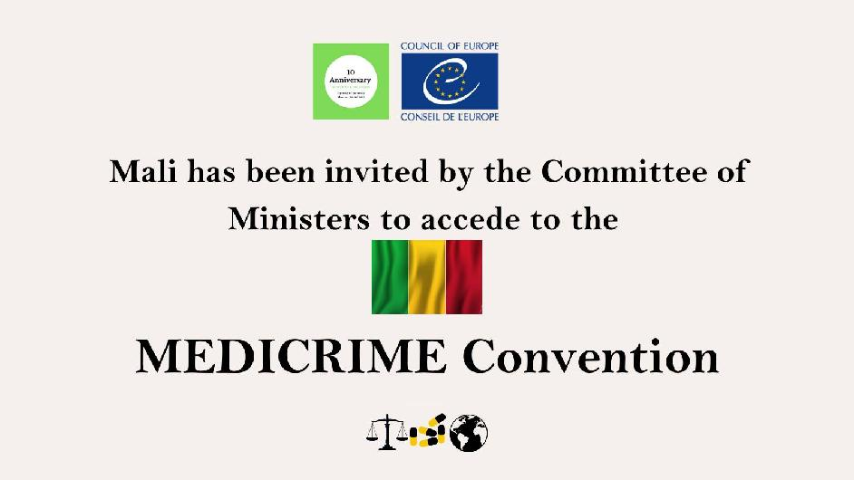 Mali invited to accede the MEDICRIME Convention