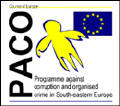Program against corruption and organised crime in South-eastern Europe logo