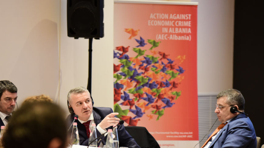 "Strengthen the criminal justice capacities on ""Investigation, Prosecution and Adjudication of Money Laundering"" in Albania"