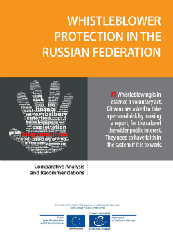 Whistleblower Protection in Russian Federation cover