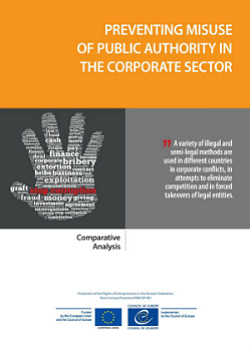 Preventing misuse of public authority in the corporate sector cover