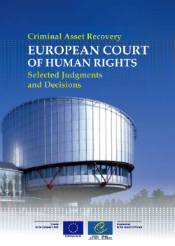 Criminal Asset Recovery - European Court of Human Rights Selected Judgments and Decisions cover