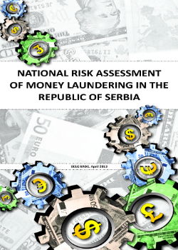National Risk Assessment of Money Laundering in the Republic of Serbia cover