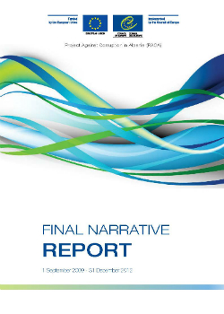 PACA Final narrative report - 1 September 2009 - 31 December 2012 cover