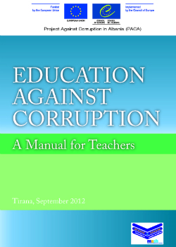 Education against Corruption - Manual for Teachers cover