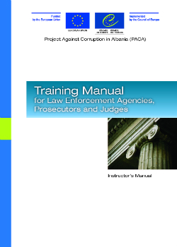 Training Manual for Law Enforcement Agencies, Prosecutors and Judges cover