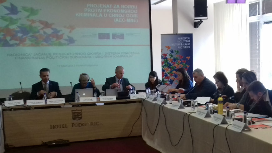 Workshop on the financing of political entities and electoral campaigns in Montenegro