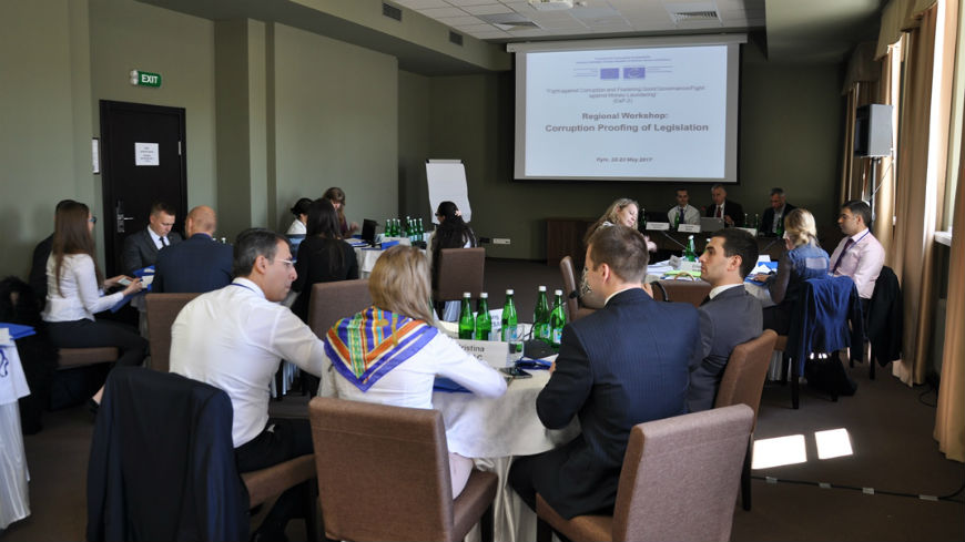 Practitioners from six Eastern Partnership countries share experiences in corruption proofing of legislation