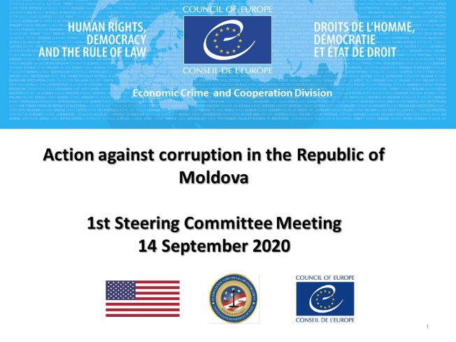 The Steering Committee of the Action against Corruption in the Republic of Moldova holds its first meeting