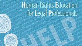 Human Rights Education for Legal Professionals