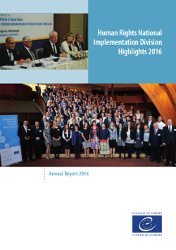 Human Rights National Implementation Division's Annual report 2016