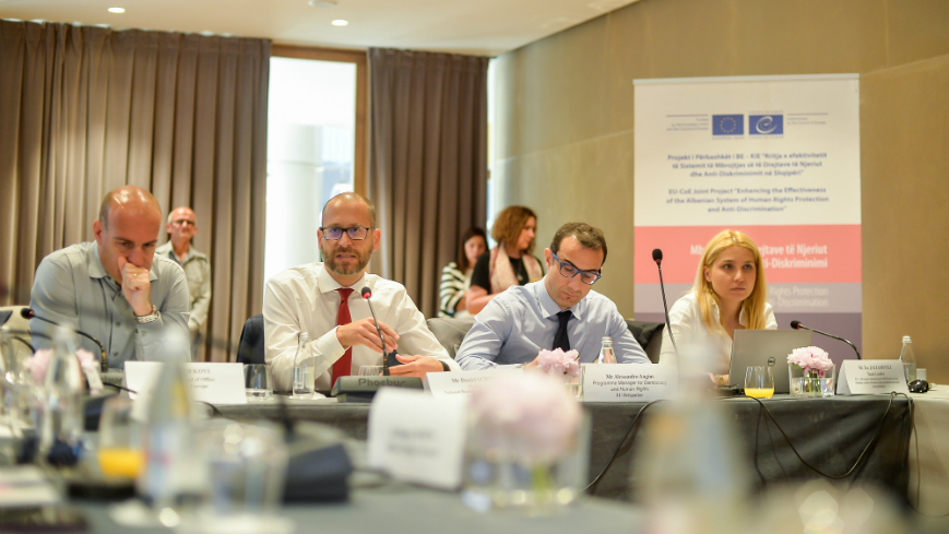 "Third Steering Committee Meeting of the EU/CoE Joint Programme ""Enhancing the effectiveness of the Albanian system of Human Rights Protection and Anti-discrimination"""