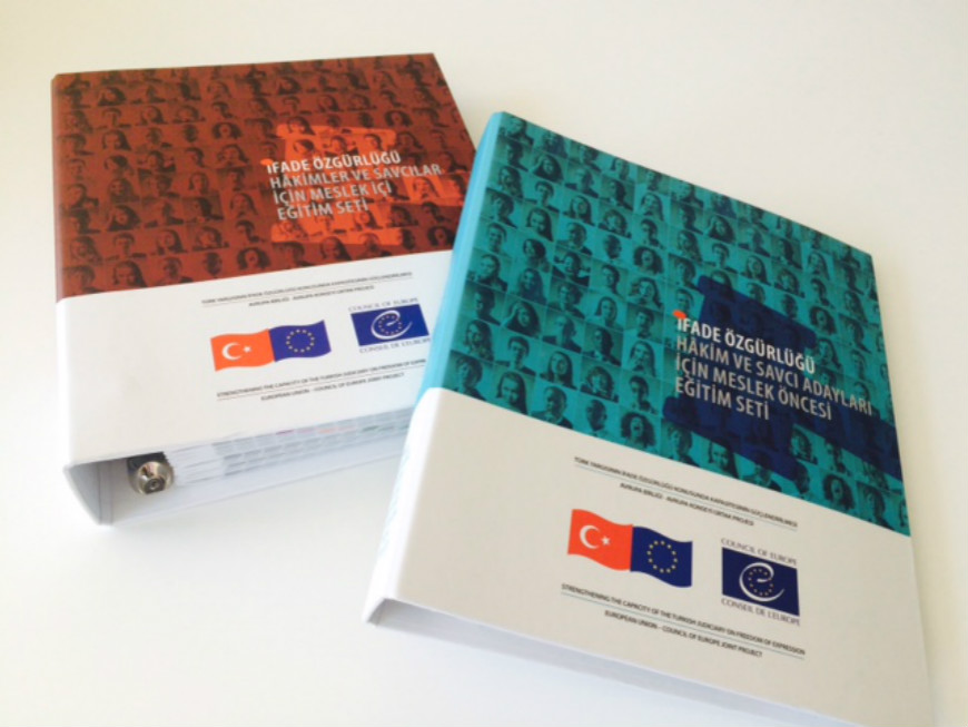Tool kits published for the training of Turkish judiciary on freedom of expression