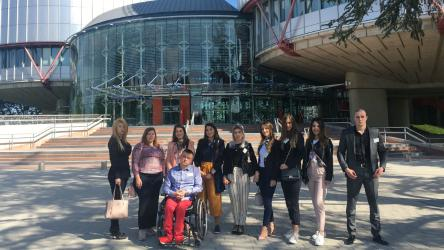 Montenegrin law students visit the Council of Europe institutions