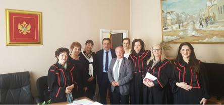 Ethical counselling visits to the basic courts in Montenegro