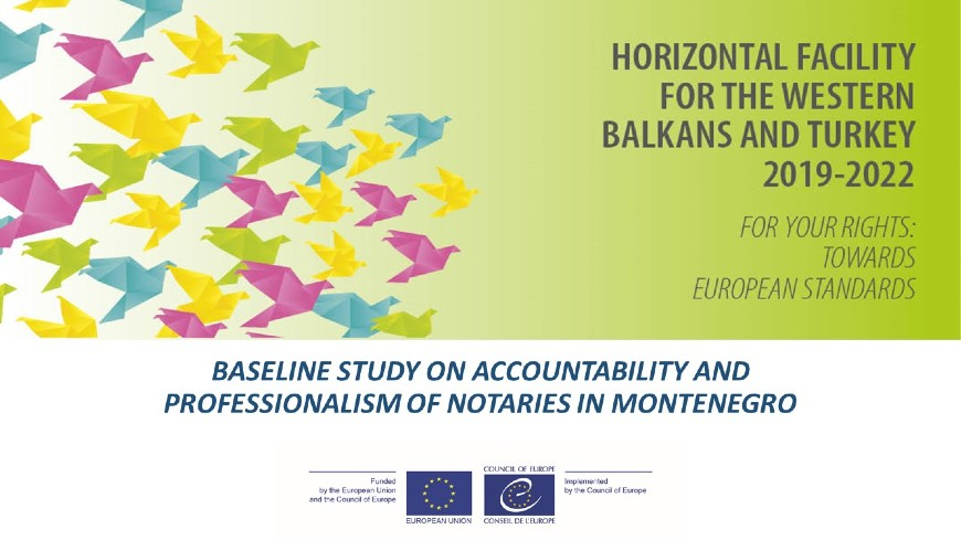 Further enhancement of accountability and professionalism of notaries in Montenegro
