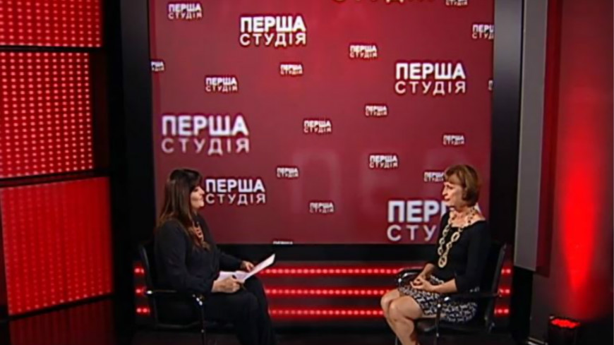 Interview with Verena Taylor on Ukrainian television