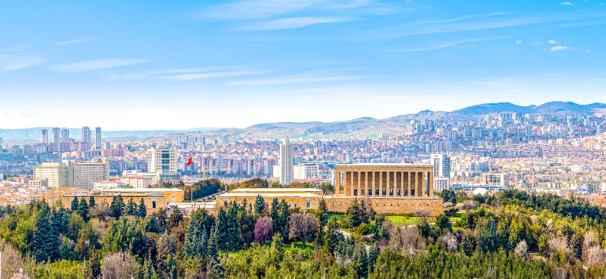 View of Ankara with Anitkabir