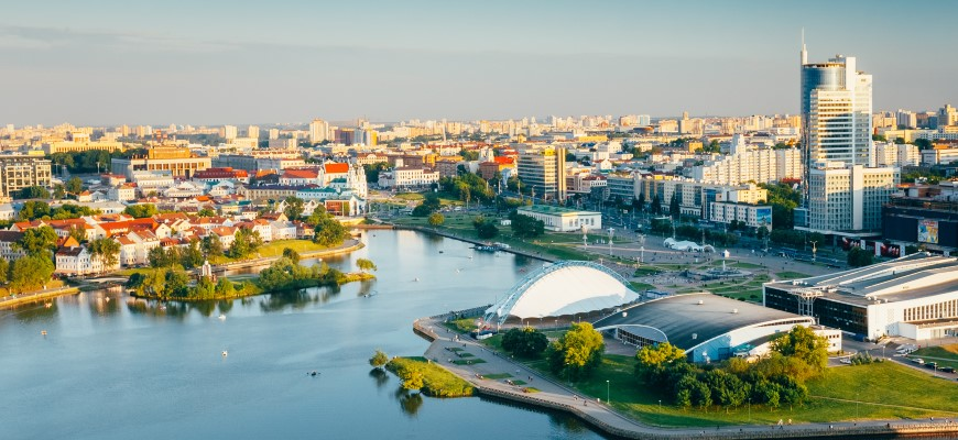 Aerial view of Minsk
