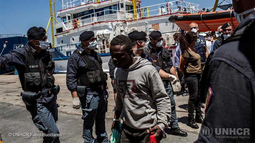 Italy should improve its asylum reception-capacity, prevent human trafficking and strengthen its child-protection system