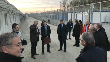 PACE Migration Committee visited Röszke transit zone in Hungary, and discussed trafficking and labour migration