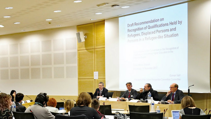 New Recommendation on Recognition of Qualifications held by Refugees