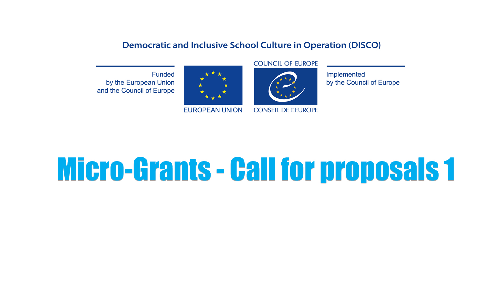 DISCO Call for proposals: micro-grants to support small-scale activities disseminating and further promoting previous cycles' outcomes