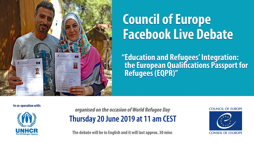 Upcoming: Facebook Live Debate on the European Qualifications Passport for Refugees