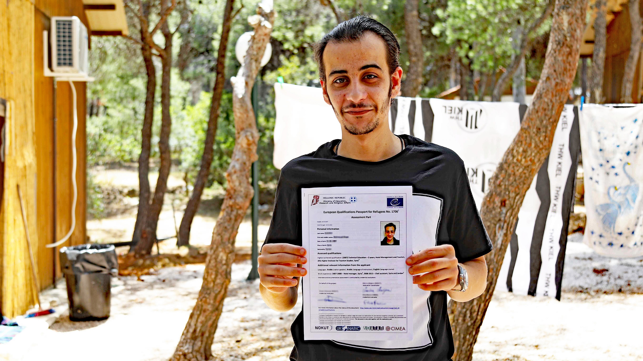 European Qualifications Passport for Refugees issued - Mahmoud
