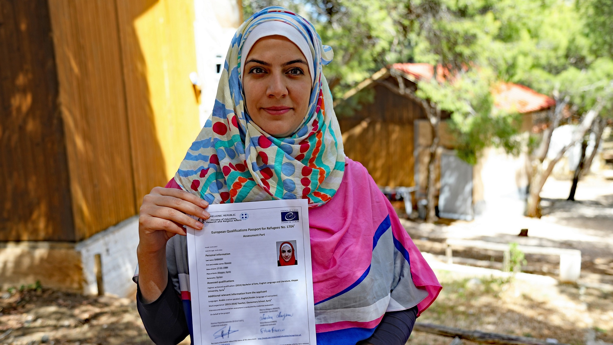 European Qualifications Passport for Refugees issued - Rawaa