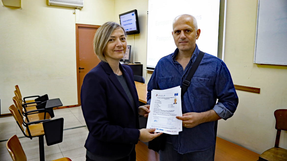 Third evaluation session held in Greece - European Qualifications Passport for Refugees - Photo 10