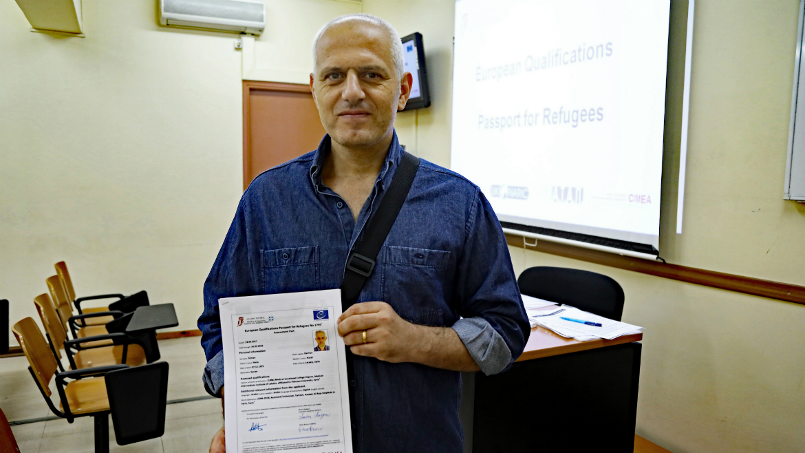 Third evaluation session held in Greece - European Qualifications Passport for Refugees - Photo 11