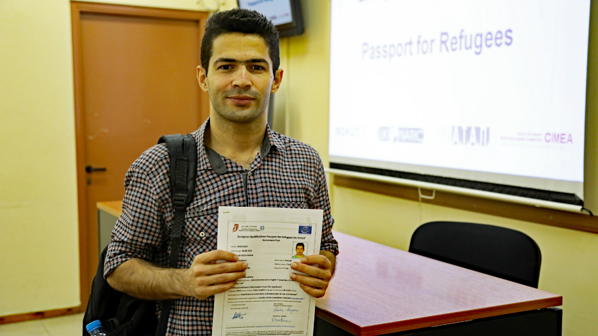 Third evaluation session held in Greece - European Qualifications Passport for Refugees - Photo 15