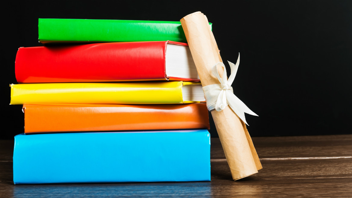 Shutterstock.com (picture of books and a roll)