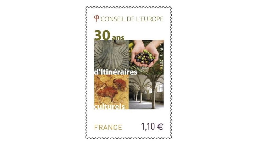 "Stamp ""30th anniversary of the Cultural Routes of the Council of Europe"""