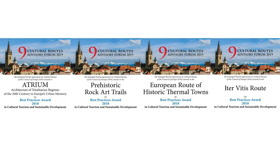 2018 Awards for Cultural Tourism go to 4 Cultural Routes of the Council of Europe (9th Annual Advisory Forum, Sibiu, Romania)