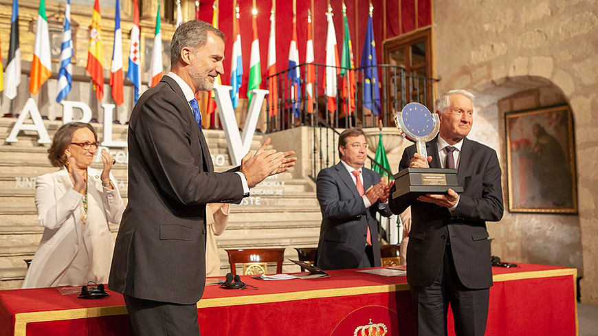 His Majesty the King of Spain awards the Charles V European Prize to the Cultural Routes of the Council of Europe programme