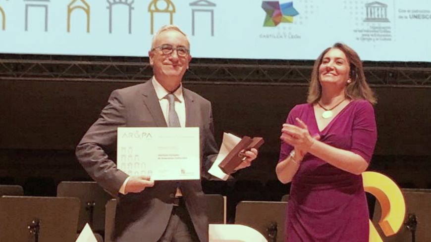 The European Institute of Cultural Routes receives the Iberian Biennial of Cultural Heritage Award
