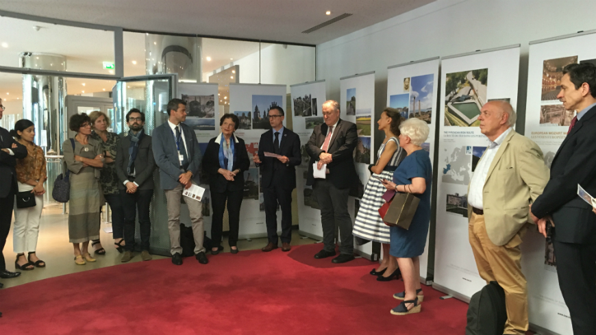 France: Exhibition on the Cultural Routes of the Council of Europe (June 17th-July 17th 2019)