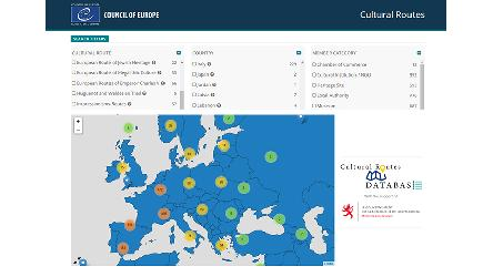 Cultural Routes Database with Interactive Map now online