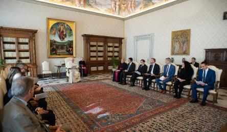 Council of Europe - MONEYVAL delegation meets with Pope Francis