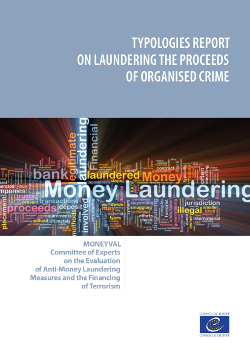 Typologies report on Laundering the Proceeds of Organised Crime
