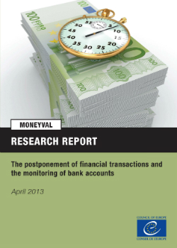 Typologies report on the postponement of financial transactions and monitoring of bank accounts