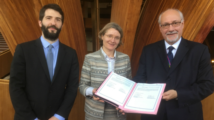 Signature of a partnership between the Faculty of Law of Strasbourg and the European Commission for the Efficiency of Justice (CEPEJ)
