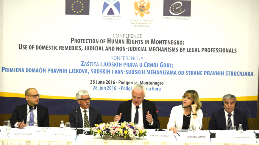 Conference on the protection of Human Rights in Montenegro
