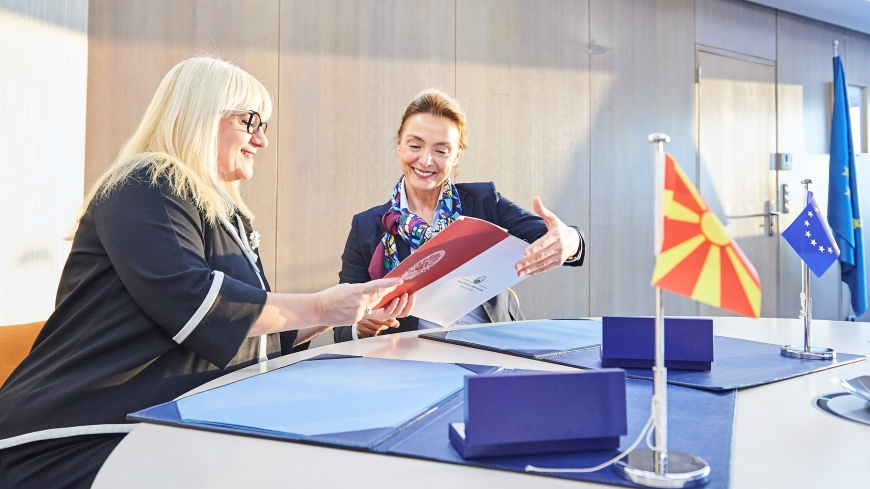 North Macedonia signs Convention 108+