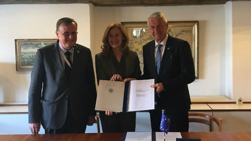 (c) French Ministry of Justice - Ms Nicole BELLOUBET, French Minister of Justice; Thorbjørn Jagland, Secretary General of the Council of Europe