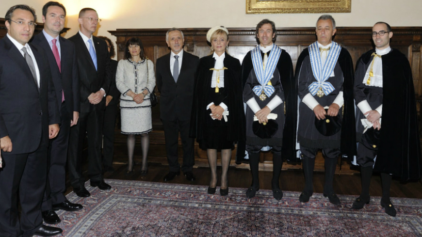 Group of States against corruption at the Investiture Ceremony of the Captains Regent of San Marino