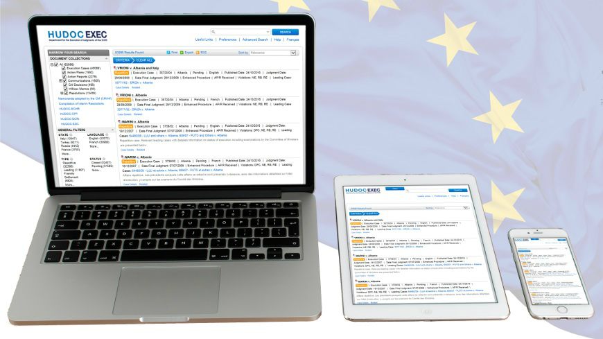 HUDOC-EXEC: a new search engine to follow the execution of judgments of the European Court of Human Rights