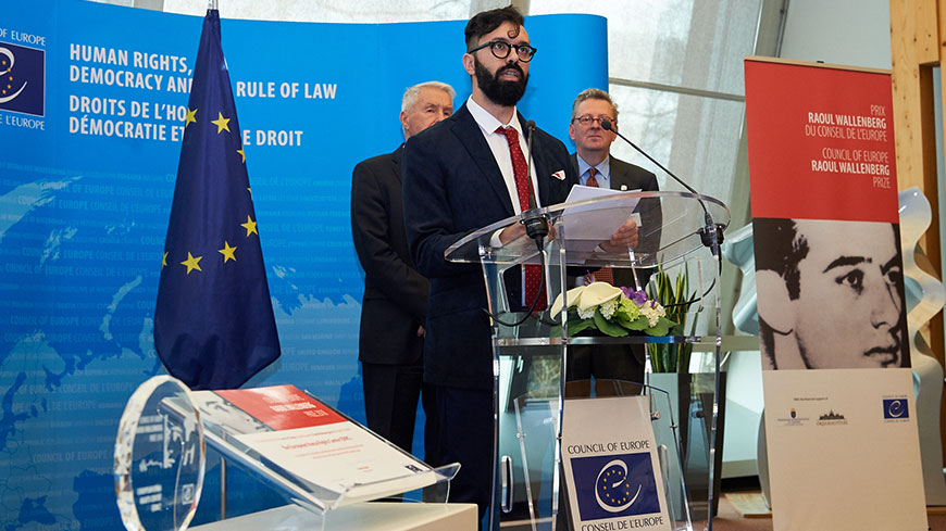 European Roma Rights Centre receives Raoul Wallenberg Prize for combating racism, rights abuse